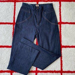 Jean Atelier High Rise Flare Dark Wash Denim Jeans